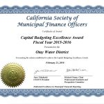 CSMFO Capital Award